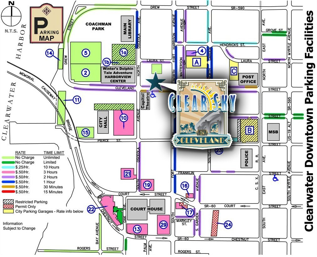 Parking Map – Clear Sky on Cleveland